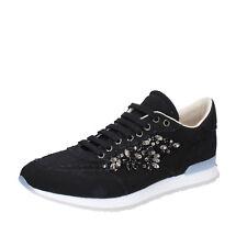 scarpe donna TWIN-SET SIMONA BARBIERI 36 EU sneakers nero tessuto AB889-B