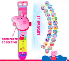 Peppa Pig KID ELECTRONIC DIGITAL DISPLAY WRIST WATCH 24 PATTERN PROJECTOR CHILD