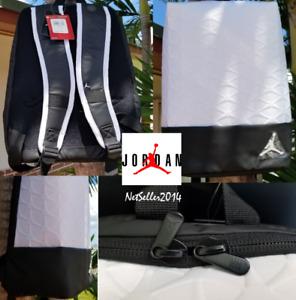 UNISEX COOL 🔥🆕 Nike Air Jordan Flight Flex Backpack White/Black School Gymbag