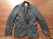 NWOT DONDUP Navy Blue 1-Button Custom Shawl Collar Blazer – Size 40R