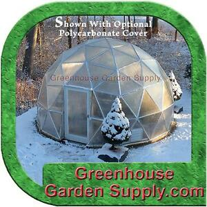 """GREENHOUSE  GEO-DOME 16 FT.  with 3/4"""" Galvanized Steel FRAME ONLY"""