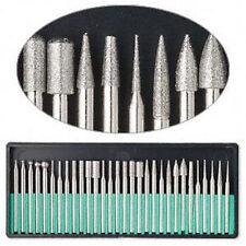 "New 30pc Diamond Burr Set 1/8"" Shank 80 Grits Dremel Type Rotary Tool #8230Dd8"