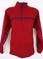 NEW Woodlake Red 1/2 Zip Fleece Pullover Men's Sweater Size L