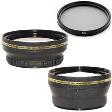 72mm Wide Angle + Telephoto Lens Kit,CPL Filter for Canon XL H1A, H1S,H1,XH A1