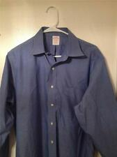 Brooks Brothers 346 Traditional Fit Non-Iron 16-34 L/S Blue