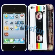 Classic Cassette White Hard Cover Case Skin for Apple iPod Touch 4 4G 4TH