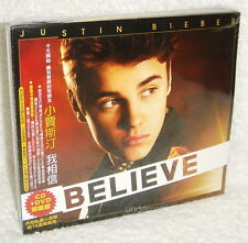 """Justin Bieber Believe [Deluxe Edition] Taiwan Ltd CD+DVD+Promo CD """"Turn To You"""""""