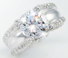 5 ct Statement Ring Russian Quality CZ Imitation Moissanite Simulant SS Size 7