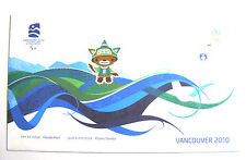 Vancouver 2010 Olympic Mascot SUMI Day of Issue Canada Post Stamp