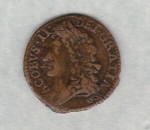 1689 IRELAND GUNMONEY SHILLING IN GOOD FINE TO NEAR VERY FINE CONDITION.