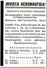 Rivista AERONAUTICA hrssg. Ministerio Dell Aero. la pubblicità storico di 1940