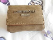 """Liebeskind Berlin"" Brown Faux Suede Purse Wallet – NEW!!!"