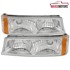 For 2003 2006 Chevy Silverado Avalanche Bumper Signal Parking Lights Pair Lamps Fits More Than One Vehicle