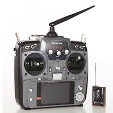 NEW RadioLink AT10 10CH Grey Radio Transmitter Mode 2 w/R10D Receiver and PRM-01