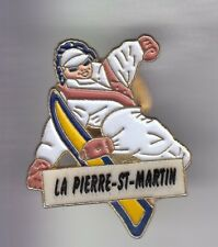 RARE PINS PIN'S .. SPORT SKI SKIING MONOSKI SNOWBOARD LA PIERRE ST MARTIN 64 ~ED