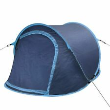 vidaXL Pop-up Camping Tent 2 Persons Navy Blue and Light Blue Outdoor Hiking