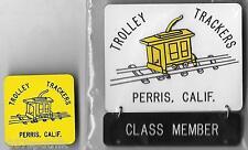 Square Dance Pin Set Perris California Trolley Trackers Class Member Pinback NOS