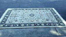 MASTERLOOMS HAND CRAFTED Flower  AREA RUG 6' X 9' 100% Wool Pile RugMark India