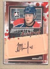 Jon Mirasty A-JMI 2011-12 ITG Enforcers Autograph Auto