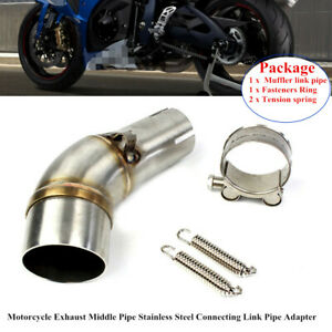 Universal Motorcycle Exhaust Middle Pipe Stainless Connecting Link Pipe Adapter