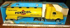 Vintage PENNZOIL TANKER SEMI TRUCK 1989 Ertl 3476 Deluxe International HUGE Toy