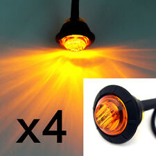 "4X 3/4"" LED Side Marker Light Clearance Lamps Amber Truck Trailer Lorry Boat"