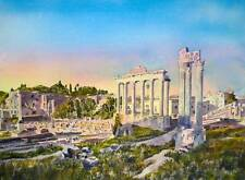 "NEW ORIGINAL ALAN REED ""Roman Forum, First Light"" Rome Italy empire PAINTING"