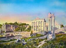 "Nuevo Y Original Alan Reed ""Foro Romano, primera luz"" Roma Italia Imperio Pintura"