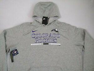NIKE MLB Colorado Rockies Baseball Gray Hoodie Sweatshirt MEN'S SIZE 3XL