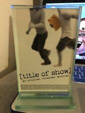 Title Of Show Broadway Musical Opening Night Gift Plaque July 17, 2008