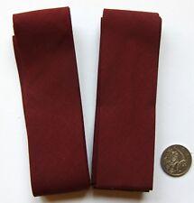 Bias No 13 - 3 Meter (2 x 1.5 meter pieces) 40mm Cotton Bias Binding - Burgundy
