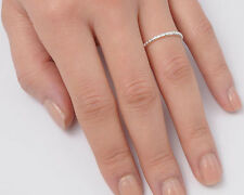 Silver Tiny Band Ring Sterling Silver 925 Plain Best Deal Jewelry Gift Size 8