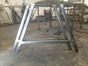 A frame industrial steel table and bench legs, metal designer legs 'A' frame