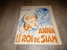 ANNA ET LE ROI DE SIAM Rex Harrison Irene Dunne scenario presse cinema 1947