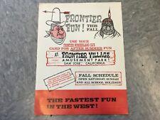 Frontier Village Amusement Park San Jose Frontier Wonderland club card flyer