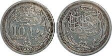 EGYPTE 10 PIASTRES 1917 KM#319