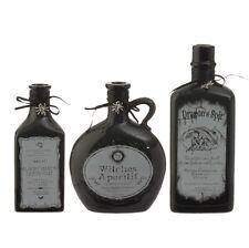 RAZ Imports 9 Inch Potion Bottles Set/3 Bloody Mary Dragon Spit Halloween NEW!