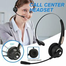 Wireless Bluetooth Headset Call Center PC Laptop Mac Headphone Noise Cancelling
