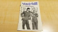 VINTAGE 1989 STAGEBILL PENN AND TELLER AUTOGRAPHED COVER CHICAGO SHUBERT THEATER