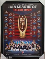 SYDNEY ROOSTERS TEAM HAND SIGNED FRAMED NRL PREMIERSHIP LIMITED PRINT SONNY BILL
