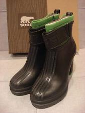 SOREL WOMEN'S MEDINA III BLACK CLEAN GREEN WATERPROOF SIZE 5 SHOES - BRAND NEW