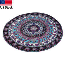 Bohemian Mandala Indian Round Beach Tapestry Hippie Throw Yoga Mat Towel US Stoc