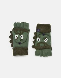 Joules Boys Chummy Gloves Character Gloves - Green Dino