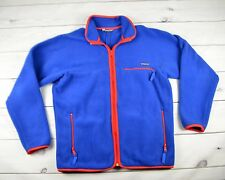 Vintage Patagonia Men Fleece Full Zip Jacket Blue Red Made in Canada Size XL