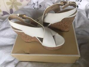 Michael Kors Genuine White Wedges Size4 Good Condition