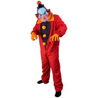 Men's Scooby Doo Ghost Clown Adult Halloween Costume Jumpsuit Gloves Face Mask