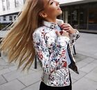 NWT ZARA AW16 QUILTED JACKET FLORAL SPRING ECRU  COAT 0518/245_XS,S,M,L,XL