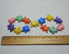 Vintage Protect-O Infant Baby Toy Bead String Frog Turtle Bird Bear Fish