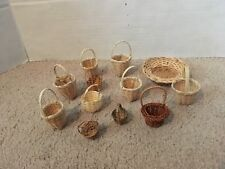 Miniature wicker and Straw Baskets Good for Crafts