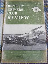 BENTLEY DRIVERS CLUB REVIEW FEB 1975 #115 NEW HQ BENTLEY DORCHESTER ARFER TON-UP